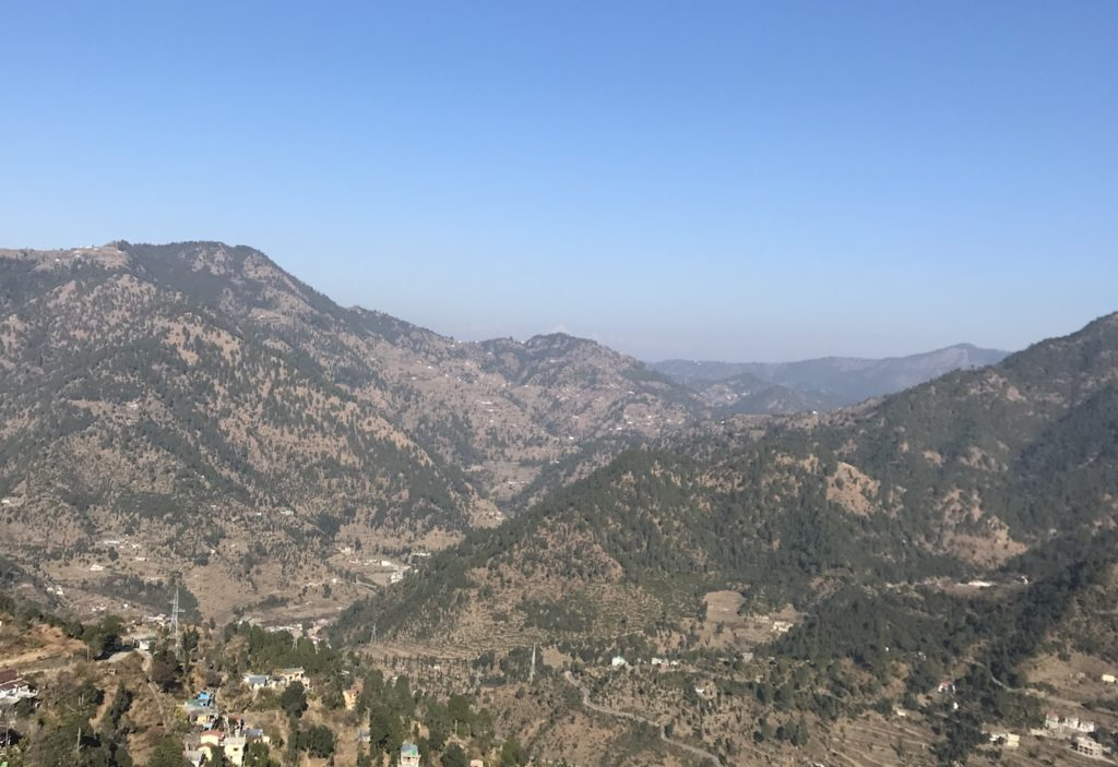 The views of the Himalayas from Ramgarh, Uttarakhand.