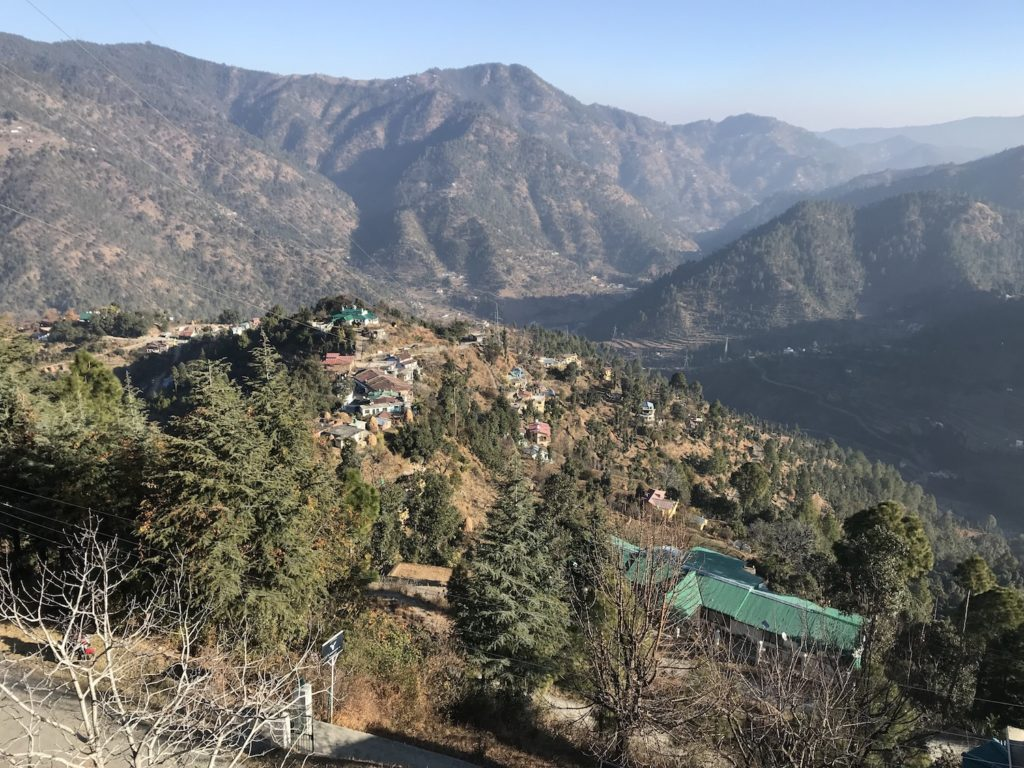 The view from Avaas in Ramgarh, Uttarakhand.