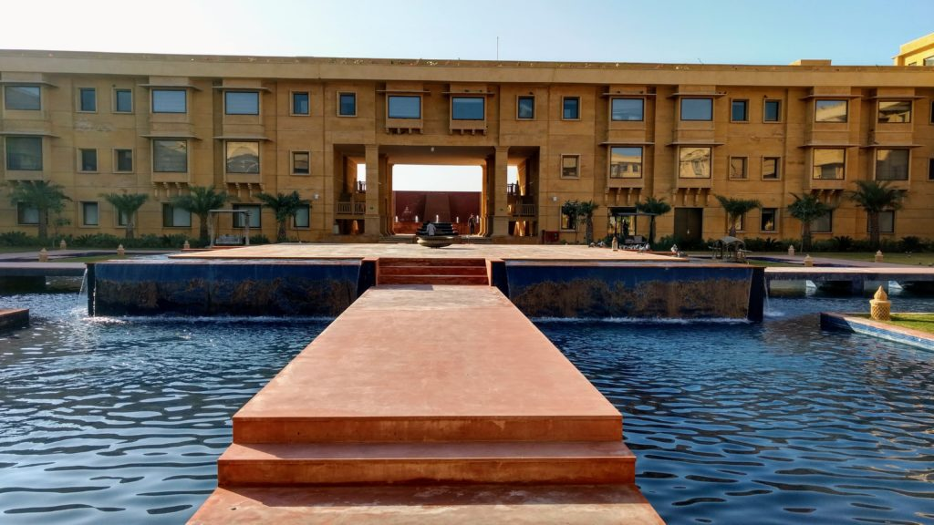 The courtyard at Jaisalmer Marriott Resort & Spa
