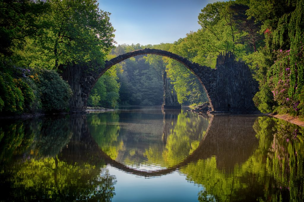 Inspiring travel quotes: an arched bridge.