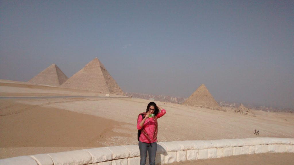 The Pyramids Of Giza, Egypt.