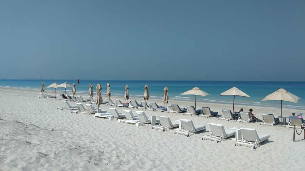 Saadiyat beach in Abu Dhabi