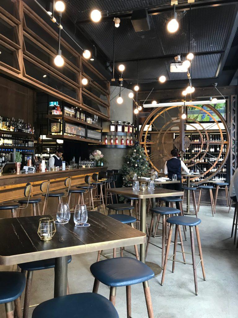 Corso Brio, Barangaroo, Sydney. The cellar has a selection of more than 3,500 local and international wines.