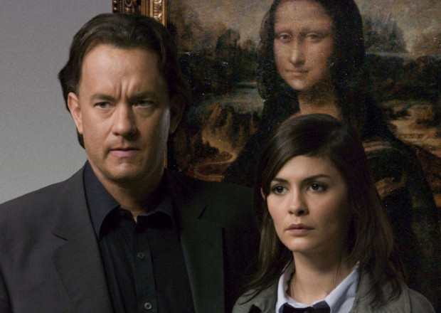 Audrey Tautou and Tom Hanks in The Da Vinci Code.