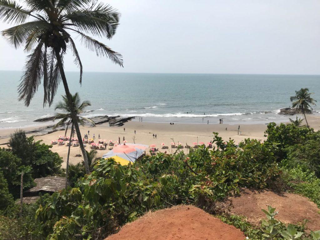 Views from Vagator Beach, North Goa.