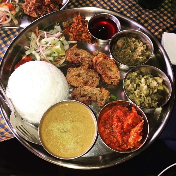 Seafood thali at Vinayak.