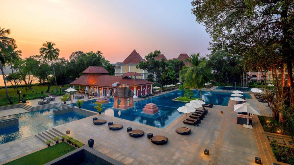 The outdoor pool at Grand Hyatt Goa.