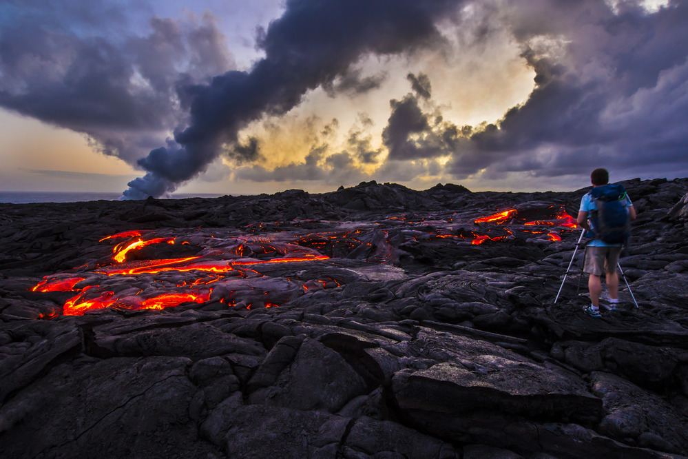 Lava Flow Field at Hawai'i Volcanoes National Park.