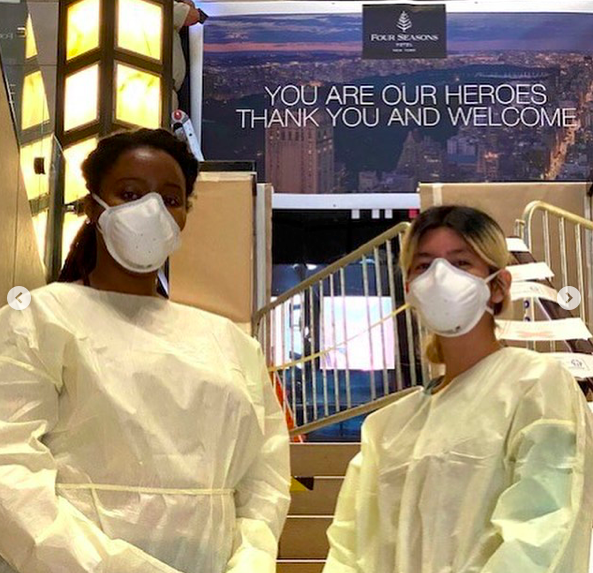 Four Seasons in New York opened for healthcare workers.