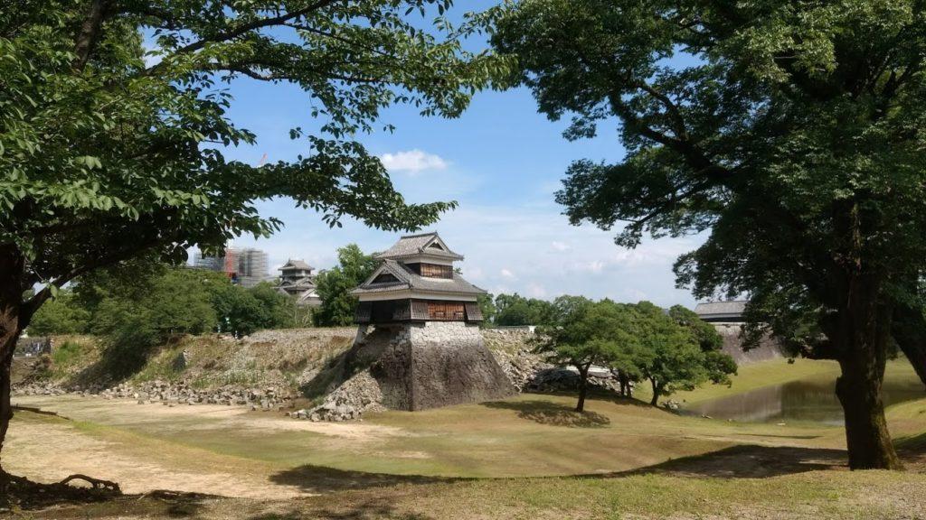 Kumamoto Castle in Japan.
