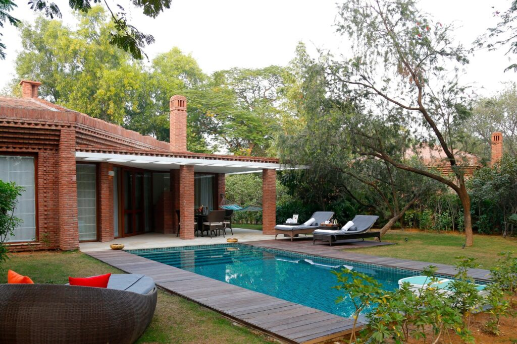 A private pool villa at Westin Sohna.