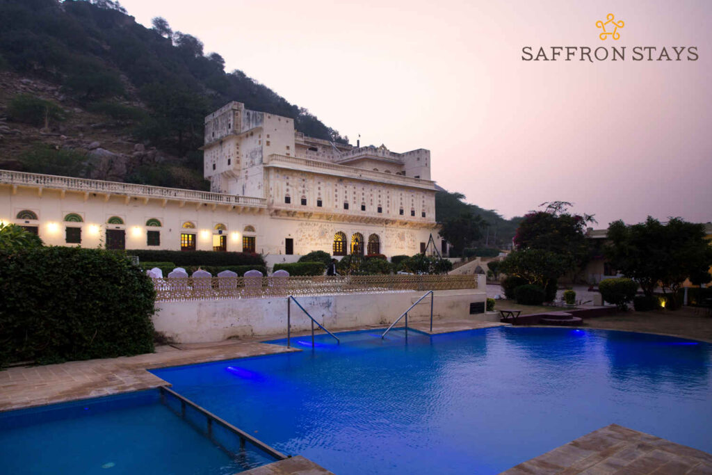 Private pool at Pukhraj Palace, Jaipur.